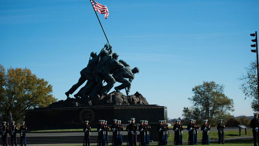 Joe Rosenthal's iconic photo was the basis for the Iwo Jima Memorial near Arlington National Cemetery.