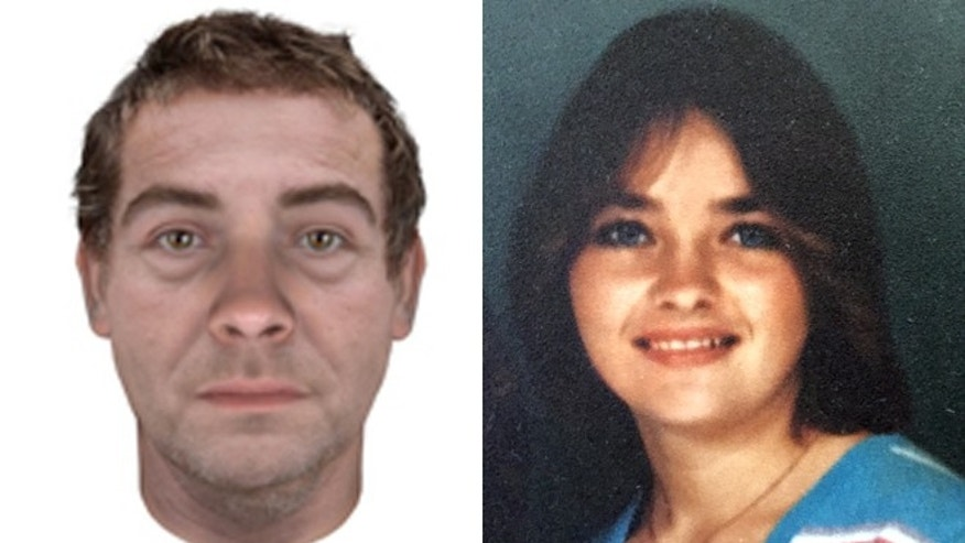 Investigators used DNA samples to reconstruct the face of the man who killed Spc. Darlene Krashoc, right.