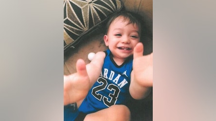 This undated photo provided by family, shows 1-year-old Jayden Cortez abducted in a stolen vehicle Thursday, March 23, 2017, in Cathedral City, Calif. Cathedral City police say two boys, Jayden, and 2-year-old Carlos Cortez, were in a Honda Accord that was stolen in Cathedral City on Thursday night. An Amber Alert has been issued for the white, four-door accord with license plate 7TJR654. (Cathedral City Police Department via AP)