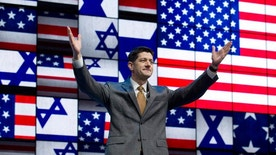 House Speaker Paul Ryan of Wis., waves to the crowd before he speaks at the 2017 American Israel Public Affairs Committee (AIPAC) Policy Conference in Washington, Monday, March 27, 2017. (AP Photo/Jose Luis Magana)