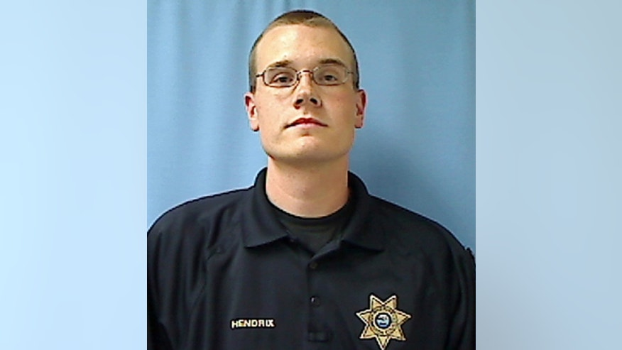 CORRECTS DATE OF DEATH TO WEDNESDAY FROM TUESDAY AND CORRECTS THE SPELLING OF HENDRIX IN THE THIRD SENTENCE FROM HENSRIX - This undated photo provided by the Hamilton County Sheriff's Office shows Hamilton County Tenn. Deputy Daniel Hendrix. Hendrix, an off-duty deputy with the Hamilton County Sheriff's Office was shot and killed Wednesday, March 29, 2017, by Chattanooga police. Authorities said Wednesday that Hendrix, who was celebrating his birthday with friends, drew his gun, became agitated and refused commands to drop the weapon. (Hamilton County, Tenn., Sheriff's Office via AP)
