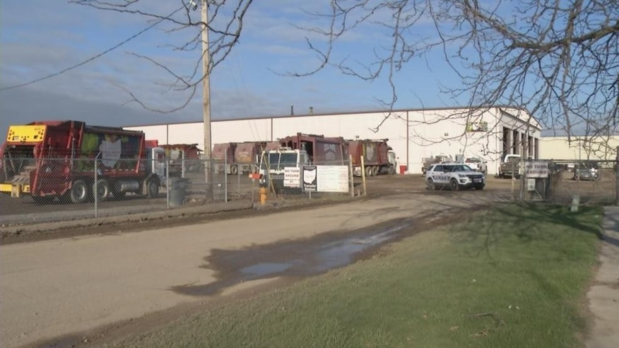 Two human legs were found at Local Waste Services in southern Columbus.