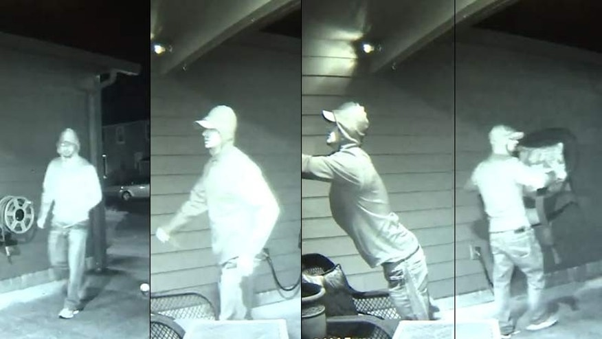 Surveillance images of Salem burglary suspect.