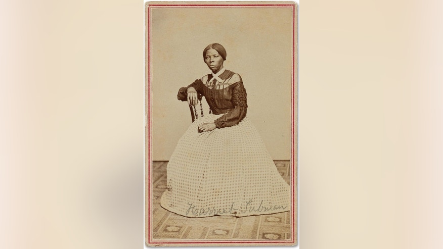 FILE - This undated file photo provided by Swan Auction Galleries shows a photograph of 19th century abolitionist Harriet Tubman. Swann Galleries is offering the circa late 1860s image for sale in New York during their auction of books, other printed material and photos from the slavery and abolition eras on Thursday, March 30, 2017. (Courtesy Swann Auction Galleries via AP, File)