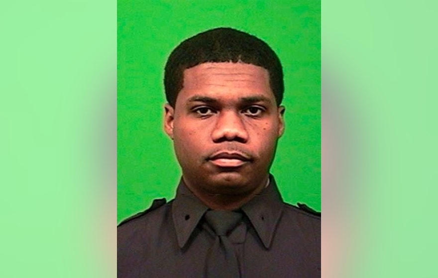 A photo provided by the New York Police Department shows Officer Randolph Holder. (New York Police Department via AP)