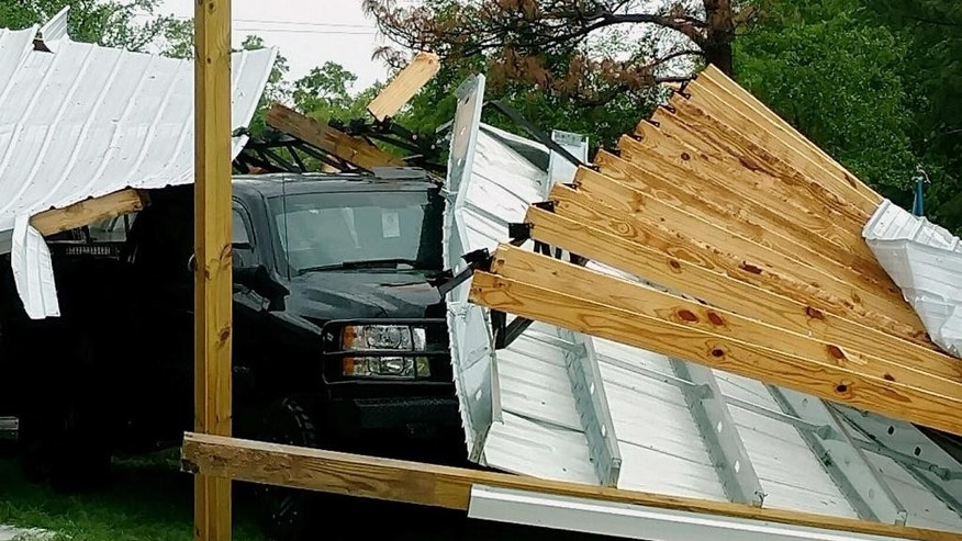 Tornadoes and apparent twisters, rain, hail around Southeast