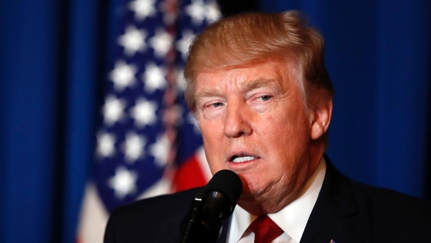 FILE - In this April 6, 2017, file photo President Donald Trump speaks at Mar-a-Lago in Palm Beach, Fla. After President Donald Trump's election victory, the United States and Russia appeared headed toward their smoothest ties in decades. Not anymore. (AP Photo/Alex Brandon, File)
