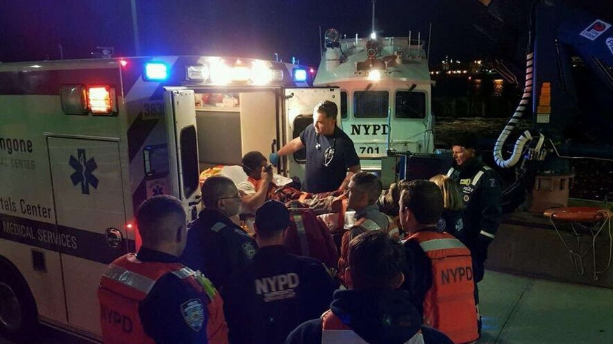 A tugboat worker needed to be rescued by an NYPD Harbor Unit Thursday night when his arm got caught in a rope and was disconnected from his body, sources said.