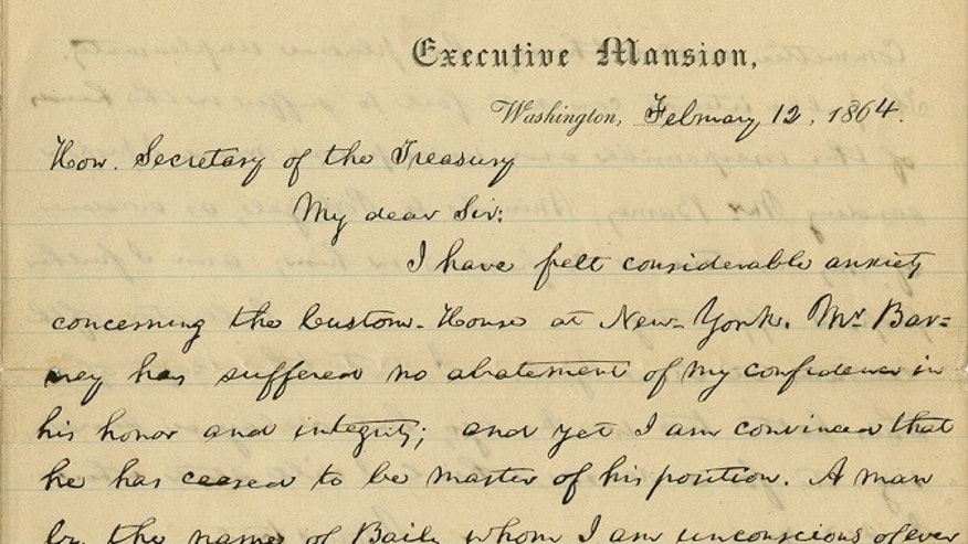 Abraham Lincoln fights corruption accusation in newfound letter ...