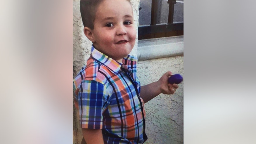 This undated photo posted on the South Pasadena, Calif., Police Department's Facebook page shows Aramazd Andressian, Jr., as they seek the public's help in locating him. Authorities throughout Los Angeles County are searching for the 5-year-old, reported missing after paramedics found his father passed out in a park. Police in South Pasadena say the boy's mother reported Saturday, April 22, 2017, that her estranged husband had failed to drop the boy off at a pre-arranged meeting place. (South Pasadena Police Department via AP)