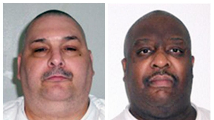 This combination of undated file photos provided by the Arkansas Department of Correction shows death-row inmates Jack Jones, left, and Marcel Williams.