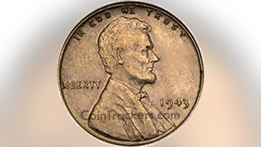 The 1943 copper wheat penny.