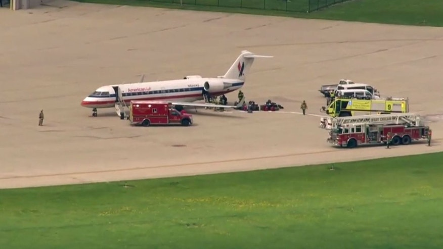 An American Eagle flight made an emergency landing at DuPage Airport on Monday.