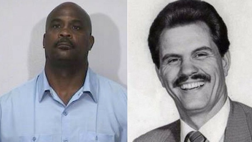 Voltaire Williams (left) was convicted in 1989 of plotting to kill LAPD Det. Thomas Williams (right). (Los Angeles Police Protective League)