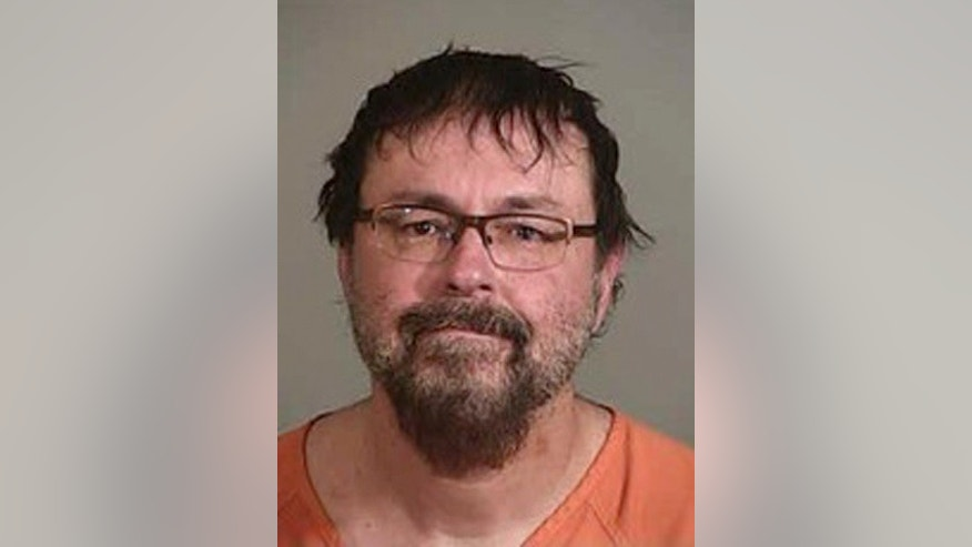 Tad Cummins, 50, shown here on April 20, 2017, after being arrested in California. This photo was released by Siskiyou County Sheriff's Office.