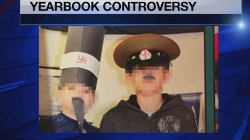A Tennessee school district is apologizing after this photo ended up in a middle school yearbook.