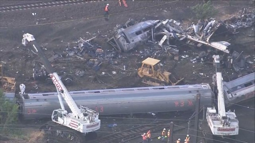 The May 2015 Amtrak train derailment left eight dead and more than 200 injured. (Fox 29 Philadelphia)