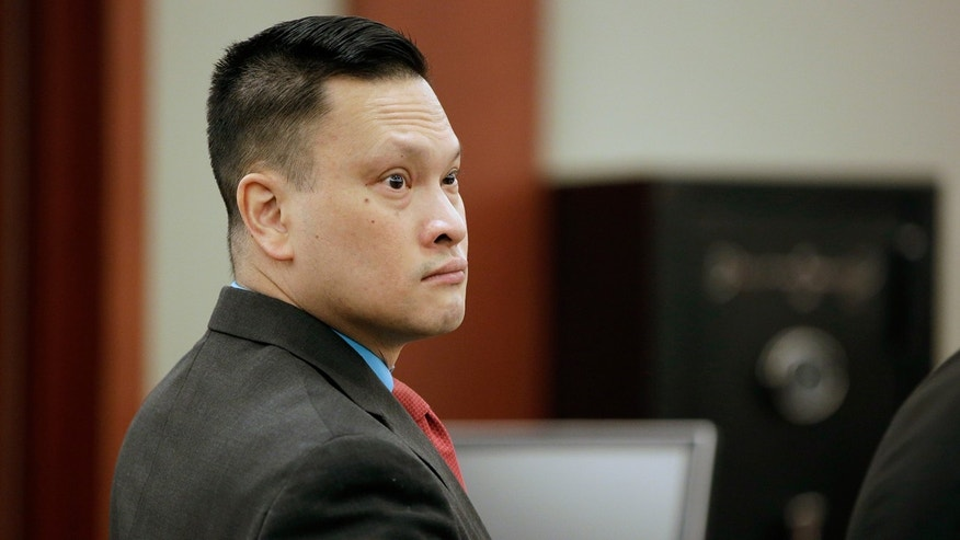 "Binh Minh ""Ben"" Chung appears in court Monday, May 8, 2017, in Las Vegas."
