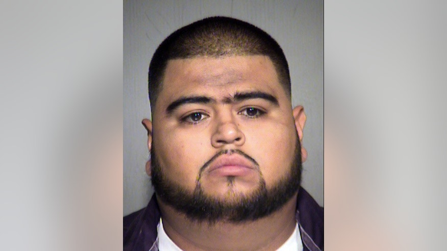 Zhair Zamora-Sepulveda (pictured) allegedly shot and wounded a limousine driver in the legs in a contract dispute in west Phoenix on Saturday.