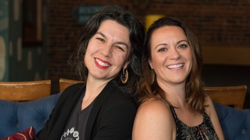 Rachel Weinstein, left, and Katie Brunelle, right, founded The Adulting School in Portland, Maine.