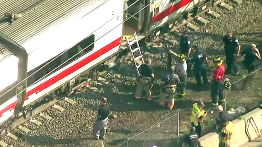 Metro North Train Off Rails in Rye, No Serious Injuries