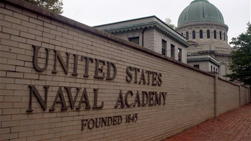 This May 7, 2007, file photo shows the US Naval Academy in Annapolis, Md.