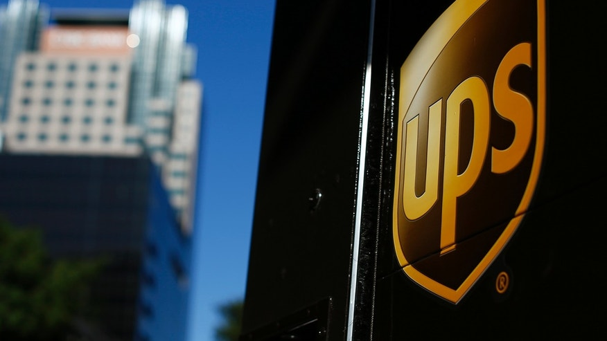 A United Parcel Service (UPS) truck on delivery is pictured in downtown Los Angeles, California October 29, 2014.