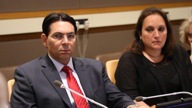 Amb Danny Danon and Ruth Schwartz courtesy Israel Mission to the United Nations