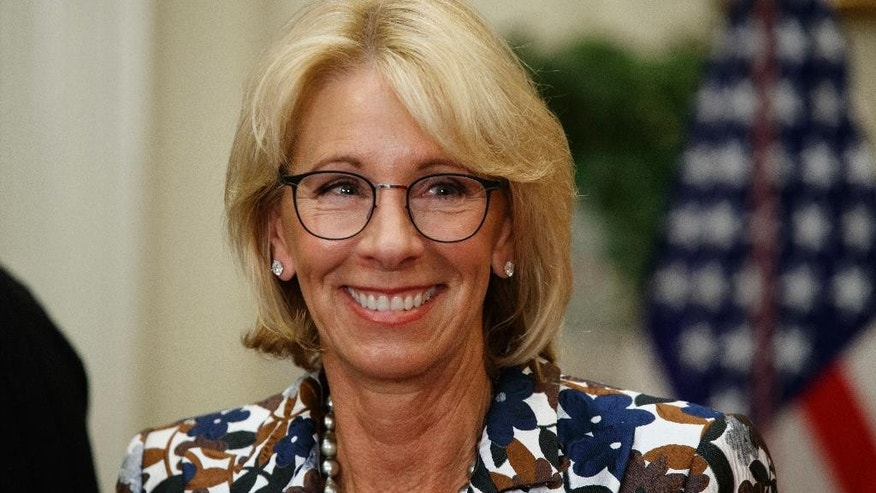"Education Secretary Betsy DeVos said a former student described East Hartford High as ""a dangerous day care."""