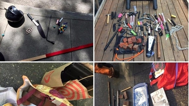 Knives Brass Knuckles And Axes Confiscated At Portland