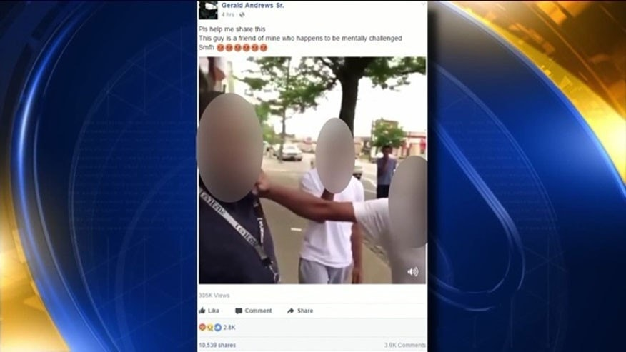 Philadelphia police probe video of attack on disabled man