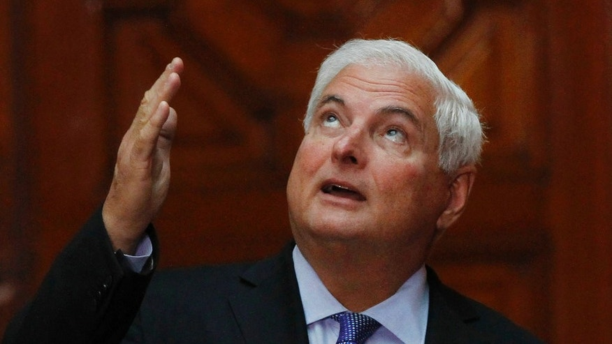 Former Panama's President Ricardo Martinelli in a March 2014 file photo.