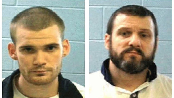 "This combo of undated photos provided Tuesday, June 13, 2017, by the Georgia Department of Corrections shows inmate Ricky Dubose, left, and Donnie Russell Rowe. A Georgia sheriff said officers were ""desperately"" searching Tuesday for the two inmates who somehow got through a gate inside a prison bus, killed two guards and got away. (Georgia Department of Corrections via AP)"
