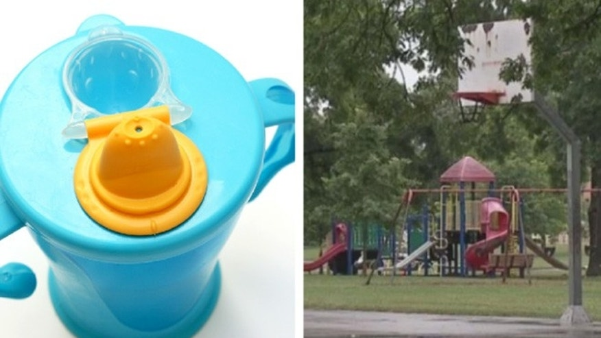 A mother was brutally beaten by two people after he child broke a toddler's sippy cup in an Ohio park.