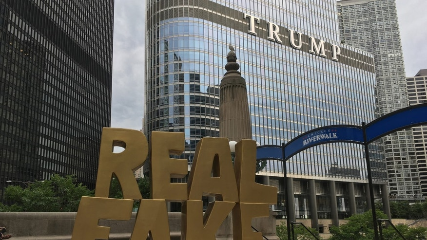 The 5-foot-tall sculpture was place right in front of Trump Tower.