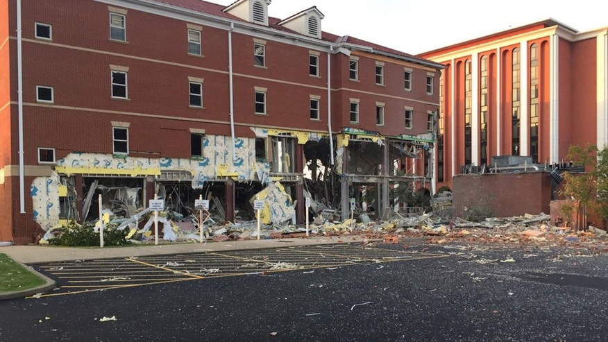 The scene after an explosion at Murray State University in Kentucky.