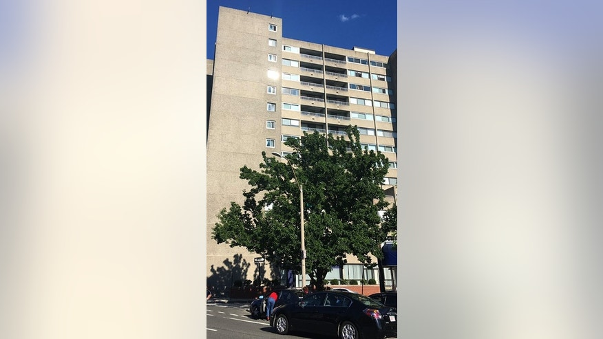 A 5-year-old girl died after a fall from this apartment building in Brookline, Mass.