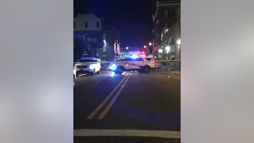 Police in downtown Savannah.