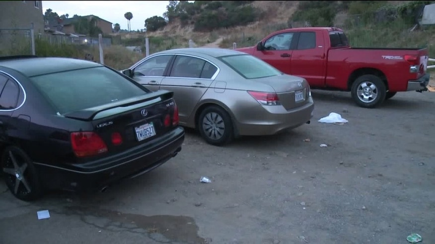 The scene of the kidnapping attempt in San Diego's Fox Canyon neighborhood.
