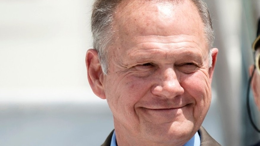 Roy Moore Alabama Wiki >> Roy Moore: Former chief justice, fiery and outspoken, stirs far-right base in Alabama Senate ...