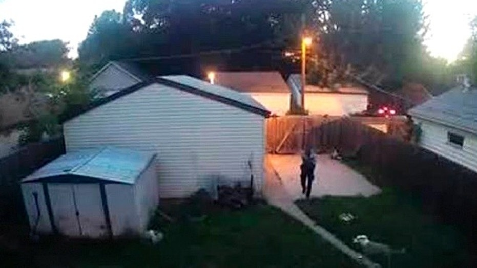A Minneapolis police officer was caught on surveillance video shooting two dogs in a backyard on Saturday.