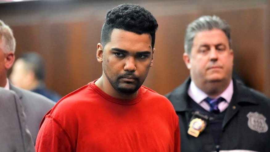 Richard Rojas, of the Bronx, N.Y., appears in court in Manhattan Criminal Court, in New York.