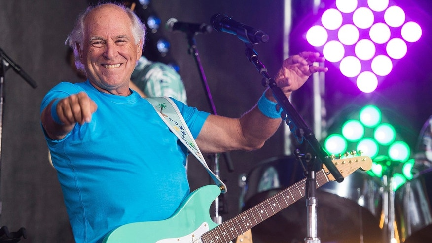 "In this July 29, 2016, file photo, Jimmy Buffett performs on NBC's ""Today"" show in New York."