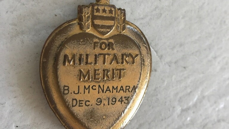 The Purple Heart was found a decade ago in Nyack, N.Y.