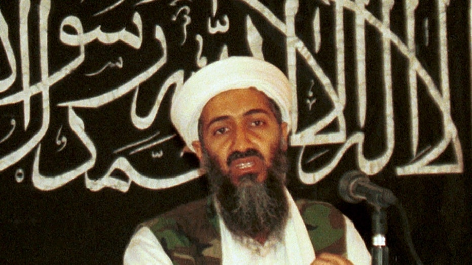 In this 1998 file photo, Osama bin Laden speaks to reporters in Khost, Afghanistan. (AP Photo/Mazhar Ali Khan)