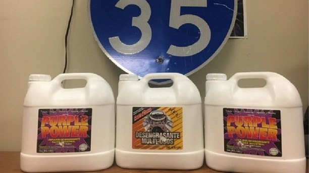 Cops find $2M in liquid meth in mom's auto during traffic stop