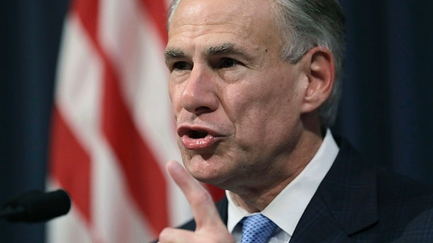 "Texas Gov. Greg Abbott announces that there will be a special session of the Texas Legislature, Tuesday, June 6, 2017, in Austin, Texas. With the special session, beginning July 18, Gov. Abbott is reviving a so-called ""bathroom bill"" targeting transgender people after the last try ended with Republican lawmakers angry and deadlocked. (AP Photo/Eric Gay)"