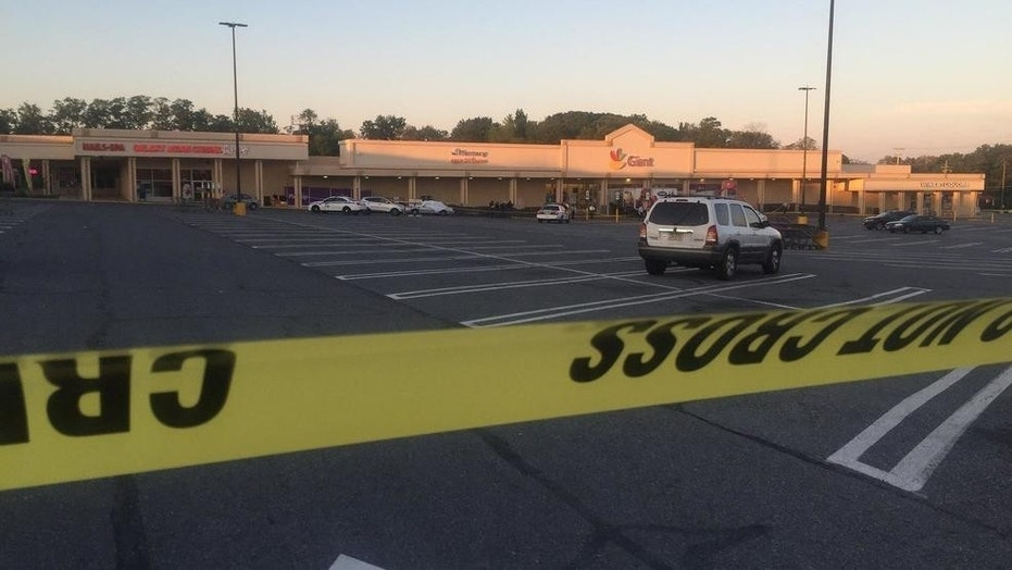 The police-involved shooting happened outside a Giant supermarket in Baltimore County Tuesday morning. (Fox 45)