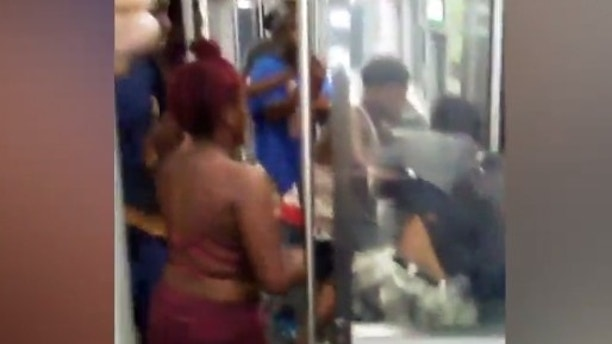 Train rider beaten after asking pot-smoking mob to knock it off