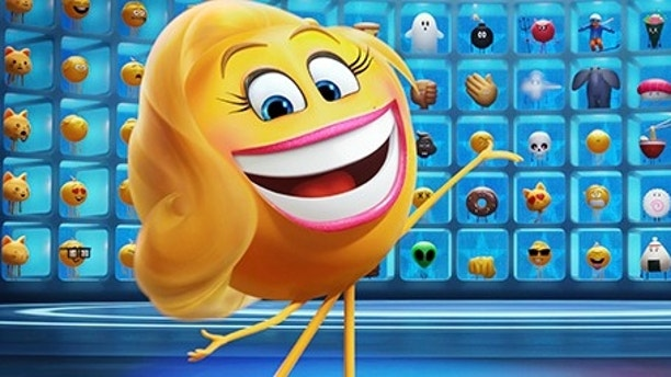 "This image released by Sony Pictures shows Smiler, voiced by Maya Rudolph, in Columbia Pictures and Sony Pictures Animation's ""The Emoji Movie."" (Sony Pictures Animation via AP)"